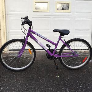 Purple Supercycle bike for ages 8-10