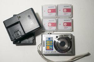 Sony Cyber-shot DSC-W MP Digital Camera - Silver