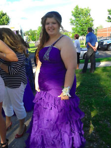 one of a kind purple prom dress