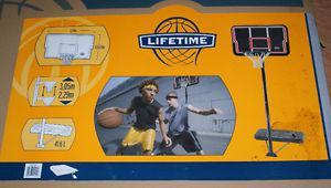 portable basketball backboard and post. PENDING