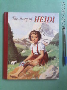 vintage The STORY of HEIDI - illustrated children's book