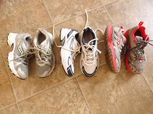 3 Pairs Woman's Sneakers - Very Good Condition - Size 7