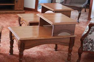 3 pc Coffee Table with End Tables