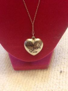 925 Silver 18 inch Necklace & Heart Pendant
