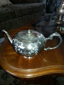 Antique Victorian Silverplate Teapot