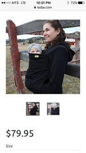 Black boba hoodie - size small