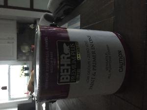 Brand new Behr gallon of annonamous grey