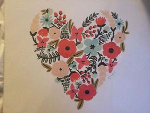 Brand new heart print from Indigo! 16x16