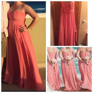 CORAL DRESS FOR SALE PERFECT FOR WEDDING/GRAD!!