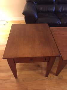 Coffee & end table set for sale - solid wood/great quality