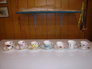 Collectible Bone China Tea Cups and Saucers etc