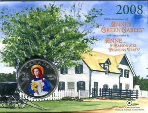 Colored Anne of Green Gables 25 Cent Coin