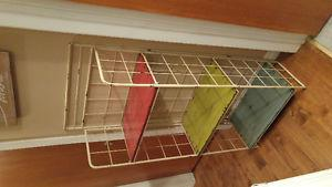 Colourful decorative shelf
