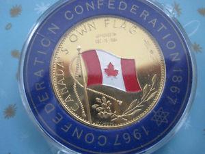 "Confederation Commemorative ""Canada's Own Flag"" Coin"