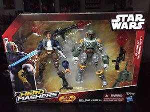 Disney Star Wars Hero Mashers Han Solo vs Boba Fett