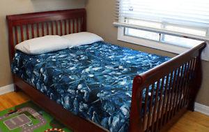 Double Bed with Mattress and Box Spring - $