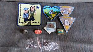 Girl Guide Badges, pins and buttons