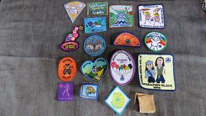 Girl Guides badges(17)(has 2 Brownies)