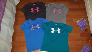 Girls UNDER ARMOUR dry fit T-shirts