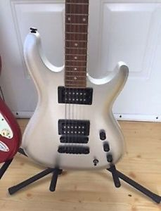Guitar with case and amp