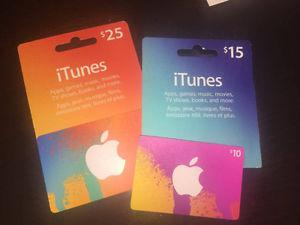 Itunes Gift Cards ($50)