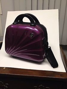 Like NEW Heys Beauty Case by Britto makeup travel bag purple