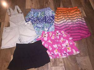 Lot of Girls Summer Clothes Size 14 Skirts and Shorts