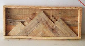 MOUNTAINSCAPE PALLET RUSTIC WOODEN SIGN