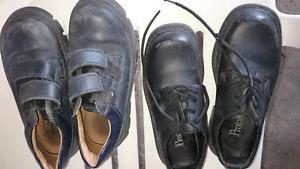 Mens dress shoes and kids dress shoes with laces or velcro