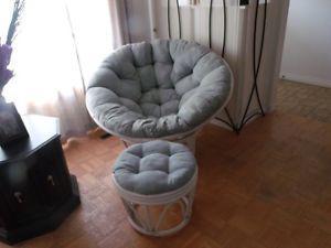 Papasan Rattan Furniture Set, Including Coffee Table