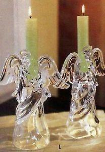 Princess House-- Crystal Angel candle holders!