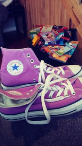 Purple Converse All Star sneakers for sale!