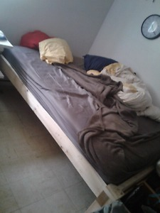 Wanted: Queen Size Mattress and frame,best offer, pick up