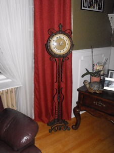 Wrought Iron Stand Clock Old world look