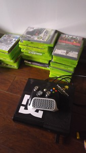 Xbox 360 with 36 games and cordless keypad controller