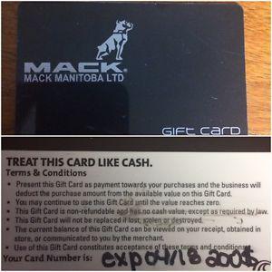 $200 Mack Manitoba Gift Card