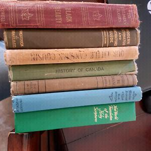 7 Old books  to