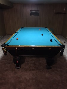 Antique Brunswick Bulke Collender Pool table