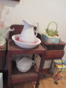 Antique Water Pitcher & Basin and Chamber Pot