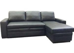 BRAND NEW GENUINELEATHER / FABRIC SOFA BED WITH STORAGE ON
