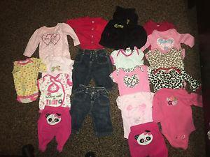 Baby girl clothes & sleepers