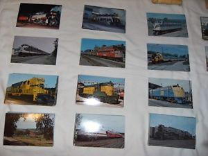 Collection de fiches standard de trains