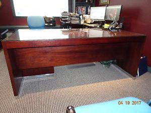 Executive Corner Office desk Set 6 piece Mahogany