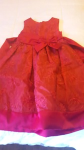 Girls red sleeveless Dress