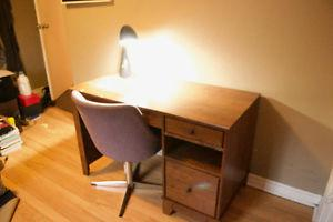 Great Quality Desk, Chair, & Lamp