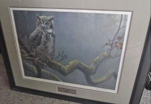 "Robert Bateman ""In the Oak - Great Horned Owl"""