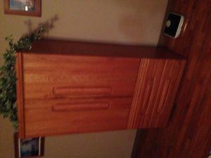 Solid Wood Dresser, Mirror Armoir & Bed Frame