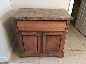 Solid wood counter