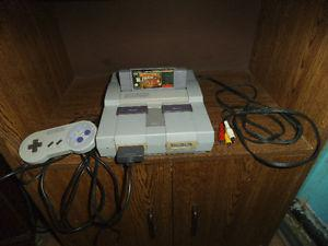 Super Nintendo with all hook ups and Donkey Kong Country