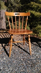 Two Solid Wood Chairs